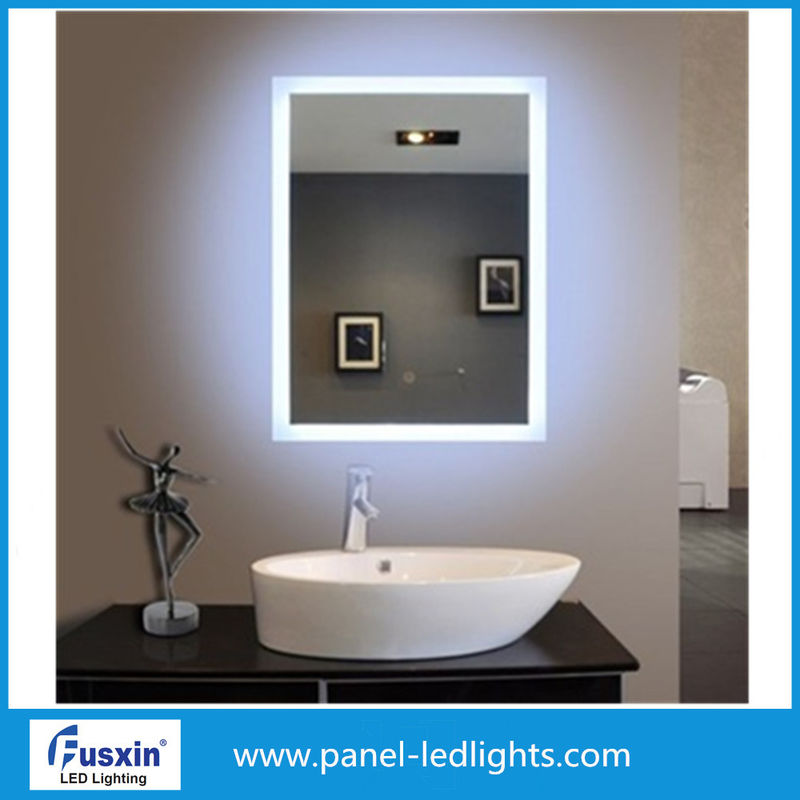 5mm Hotel Small Vanity Frameless Backlit Mirror Anti Corrosion Protection FUSXIN 11-13