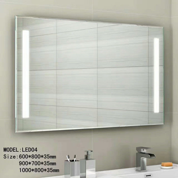 Audio Smart Wall Mounted Hotel Bathroom Mirror Waterproof 3.5mm 5mm Thickness