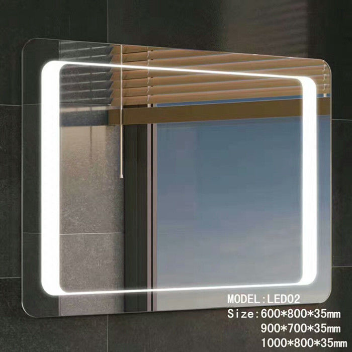 Stainless Frame Hotel Bathroom Mirror With Radio ,  Magnifying Custom Backlit Mirror