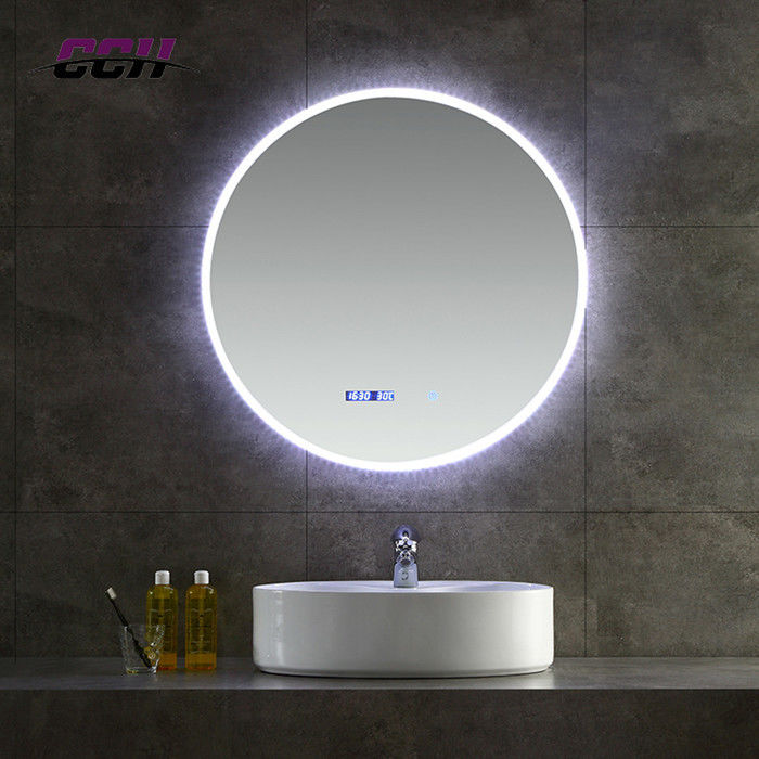 Bluetooth Wall Mounted Led Lighted Bathroom Vanity Mirror Anti Fogging Slivered