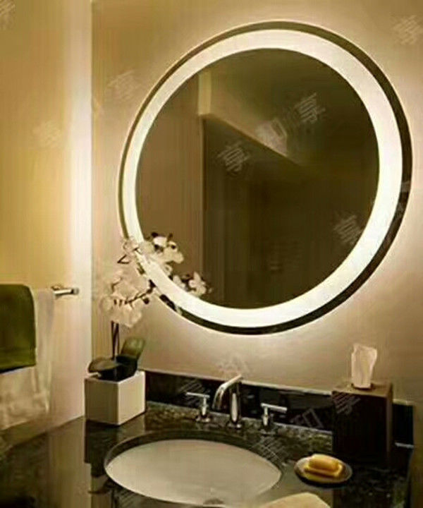 Electric Back Lighted Bathroom Mirrors PVC Back Framed 80x80x3.5cm