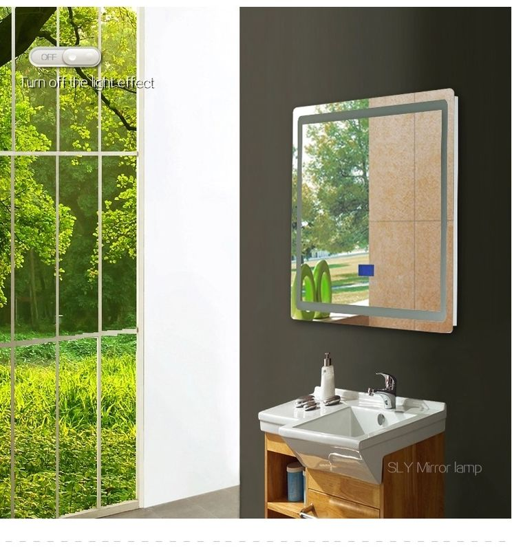 Bluetooth Led Behind Mirror High Output Stainless Steel Frame Illuminated Vanity Mirror