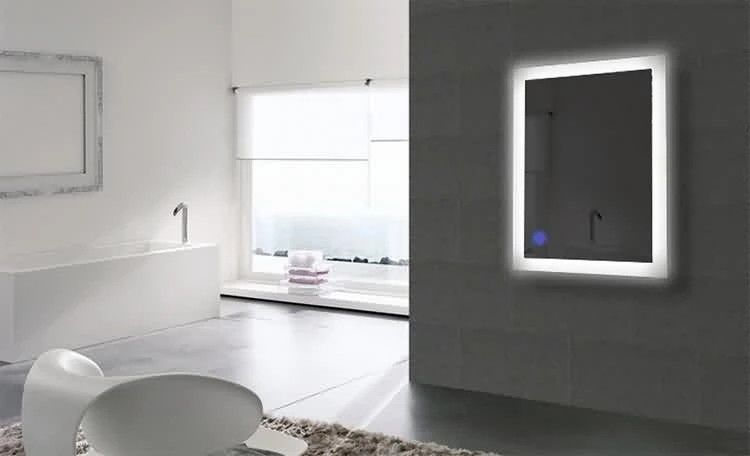 Luxury Bathroom Wall Mounted Mirror With Lights Sensor , Led Vanity Mirror