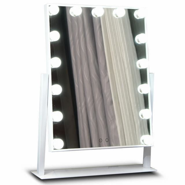 Premium Led MakeUp Mirror Metal Frame For Salon , Hollywood Led Mirror