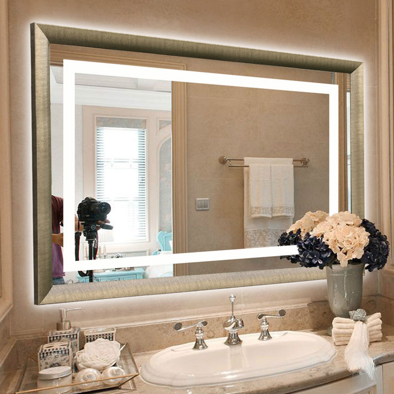 Frameless LED Backlit Mirror Wall Mounted Hotel Vanity Mirror