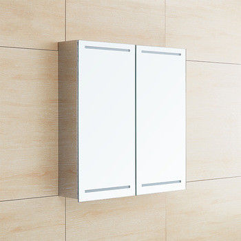 Stainless Steel LED Mirror Cabinet With Sliding Door , Light Up Bathroom Cabinet