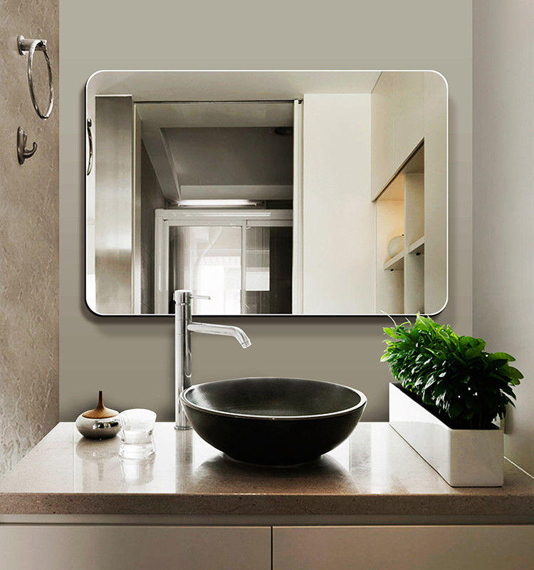 silver wall mounted frameless bathroom mirror, Anti-frog wallmouted LED mirror